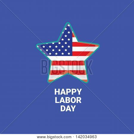 Labor day vector background. vector happy labor day poster or banner with with star. labor day sale