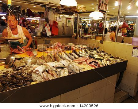 raw fish hawker in Singapore