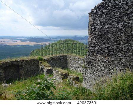 Bezdez Castle Ruin In Northern Bohemia
