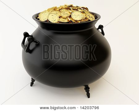 Cauldron With Money