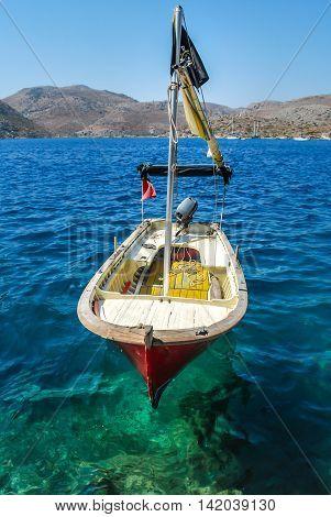 Fishing boat on the Bozburun harbour, Turkey