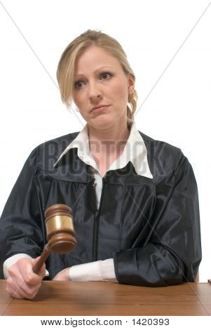 Stern Looking Woman Judge