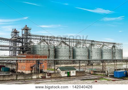 Oil and gas processing plant. Raw materials industry