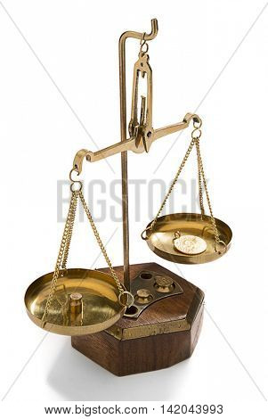 Turkish Gold Coins on Weight Scale
