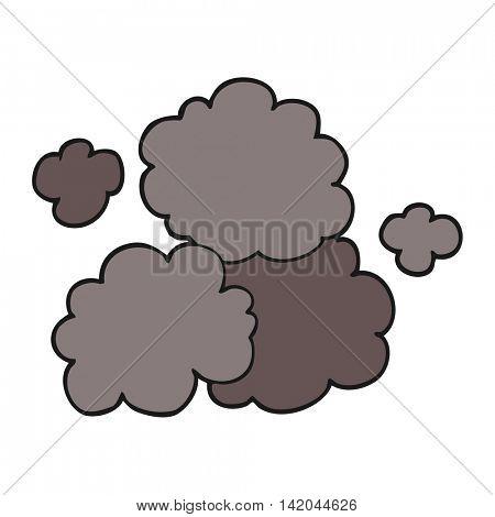 freehand drawn cartoon smoke cloud