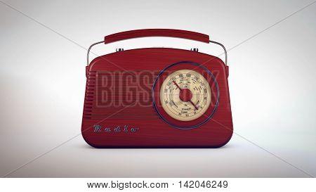 Retro Old Radio Receiver