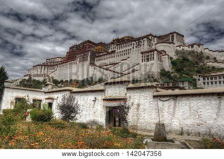 Majestic Potala Palace during spring in Lhasa, Nepal, Tibet