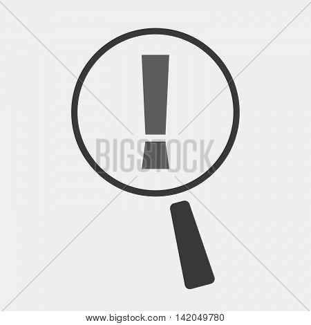 Isolated Magnifier Icon With An Admiration Sign