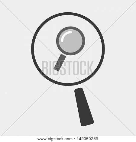 Isolated Magnifier Icon With A Magnifier