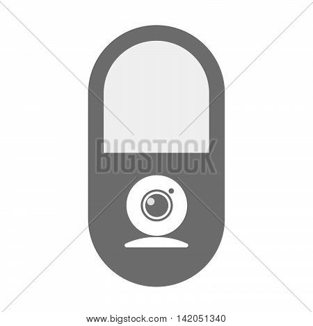Isolated Pill Icon With A Web Cam