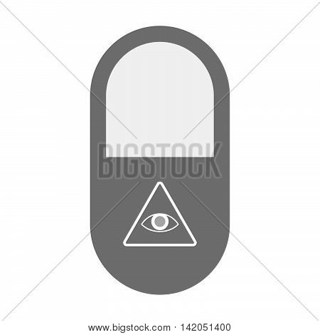 Isolated Pill Icon With An All Seeing Eye