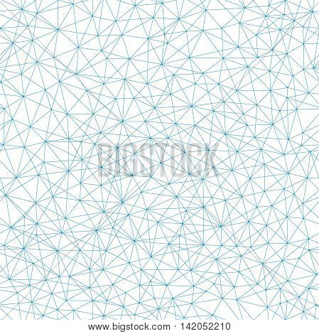 Vector seamless geometric wireframe pattern with lines connected, molecule metaphor, science technology background