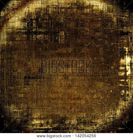 Spherical tinted vintage texture, aged decorative grunge background with traditional antique elements and different color patterns: yellow (beige); brown; gray; black