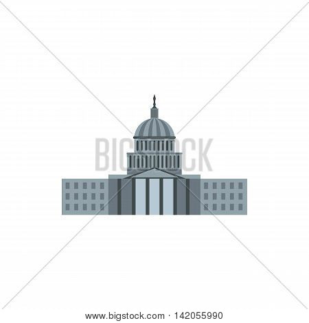 United States Capitol icon in flat style on a white background