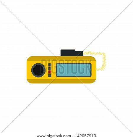 Taxi radio icon in flat style on a white background