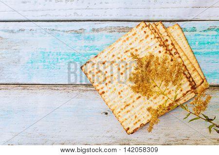 Pesah celebration concept jewish Passover holiday Passover matzah