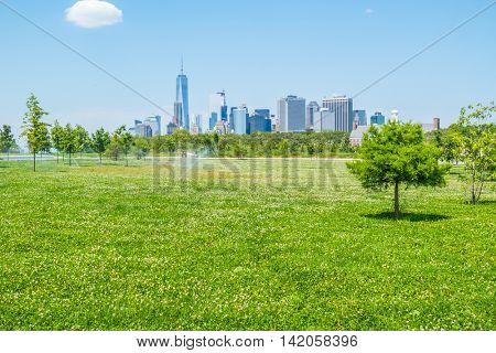 Governors Island, New York - picnic area