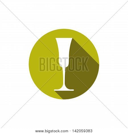 HoReCa graphic element champagne glass. Alcohol theme conceptual symbol.