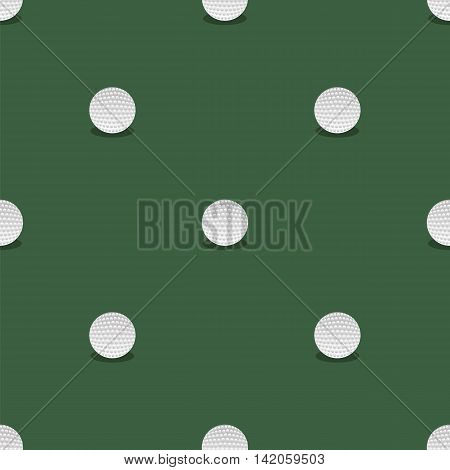 Golf Seamless Pattern. Summer Sport Background. Balls Isolated