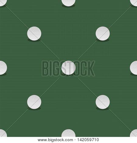 Golf Seamless Pattern. Summer Sport Background. Balls Isolated