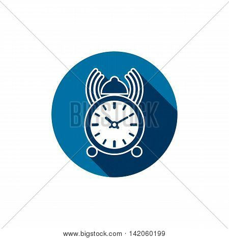 Vector simple desk clock placed in a circle.