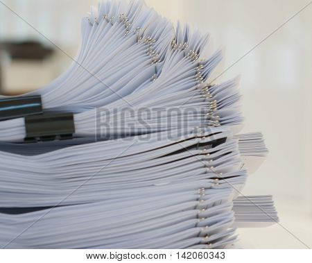 Stack Of Document At Office