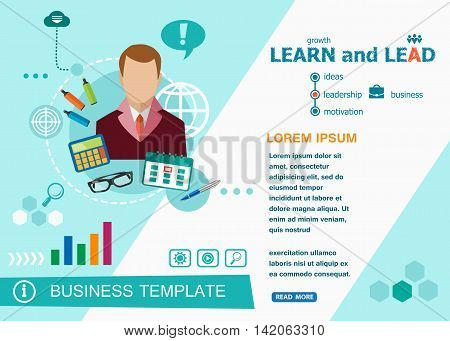 Learn And Lead Design Concepts Of Words Learning And Training.