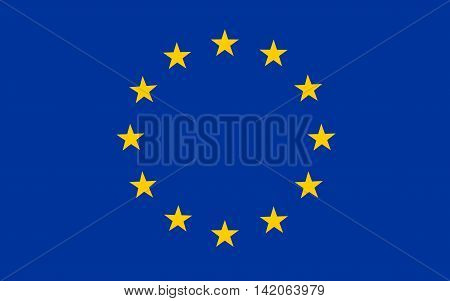Flag of Europe vector, eu, community, european, yellow, sign, symbol,