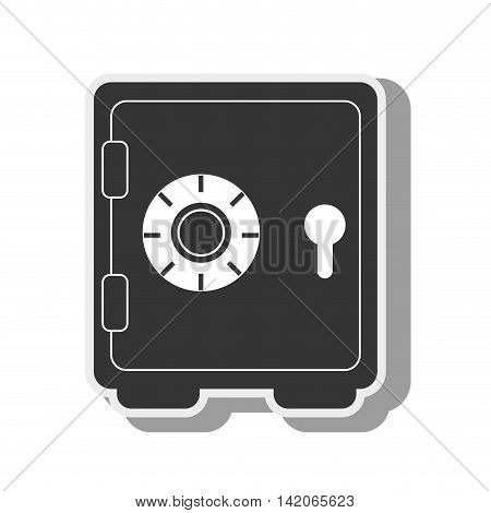 strongbox money closed combination safe storage treasure code bank metal jewelry vector graphic isolated and flat illustration