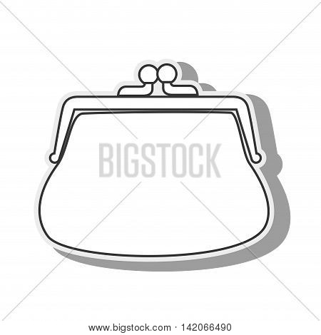 purse coins money closed wallet money save vintage vector graphic isolated and flat illustration