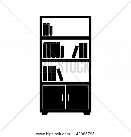 bookcase book shelf library bookshelf read office supplies furniture education academic  vector graphic isolated and flat illustration