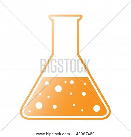 Vector Orange Tint Conical Flask Chemical Icon