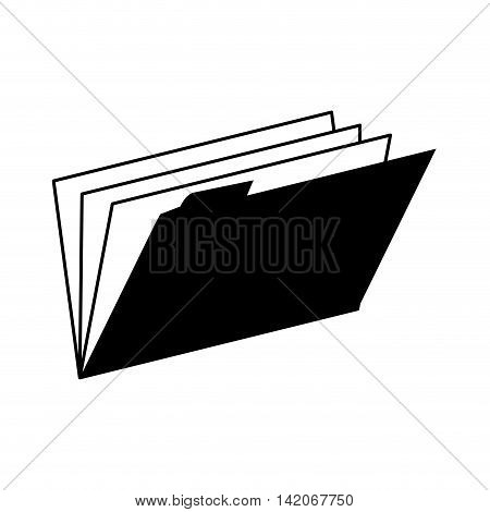 folder binder open documents work archives office supplies desk  vector graphic isolated and flat illustration