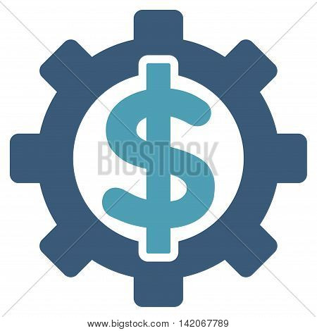 Financial Options vector icon. Financial Options icon symbol. Financial Options icon image. Financial Options icon picture. Financial Options pictogram. Flat cyan and blue financial options icon.
