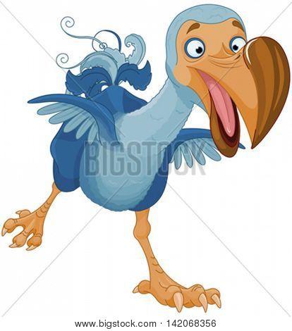Illustration of running Dodo bird
