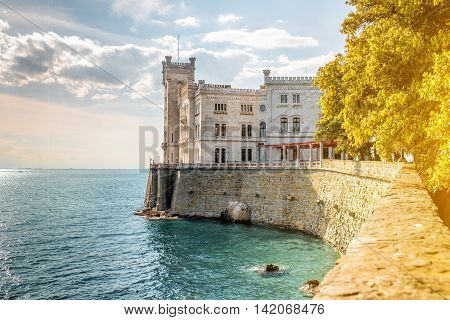 Miramare castle on the gulf of Trieste on northeastern Italy