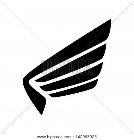 wing angel bird heaven fly eagle nature freedom sign icon vector graphic isolated and flat illustration