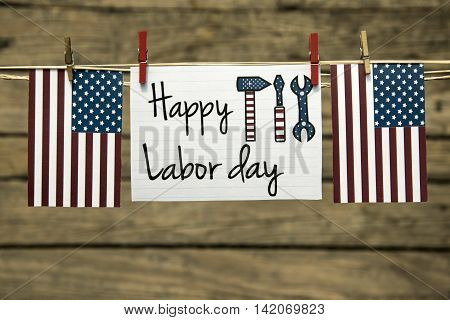 Labor day usa greeting card or background