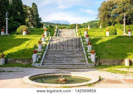 Gardens near Miramare castle in northeastern Italy
