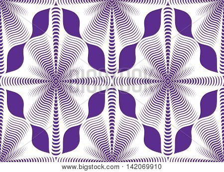 Purple  vector ornamental pattern seamless art background decorated with white lines best for graphic and web design. Geometric ornate decoration.