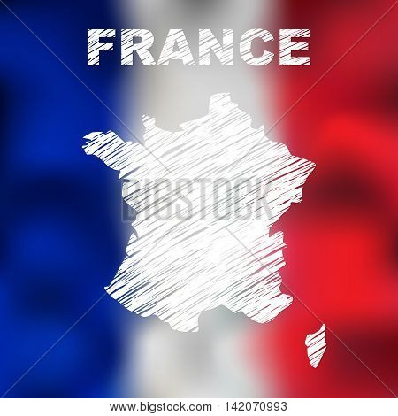 French Abstract Map