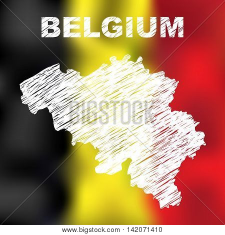 Belgian Abstract Map