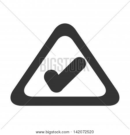 checkmark sign mark security symbol check attention vector graphic isolated and flat illustration