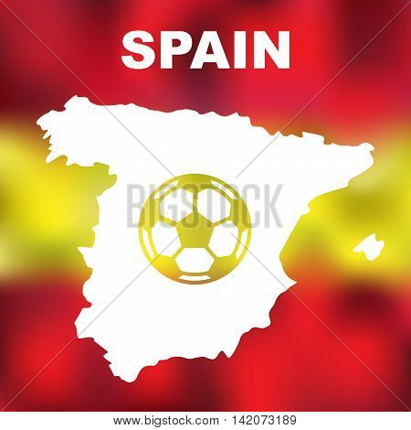 Spanish Abstract Map