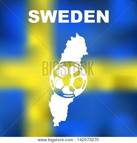 Swedish Abstract Map