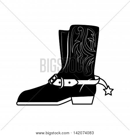boot cowboy star shoes classic west texas vector graphic isolated and flat illustration