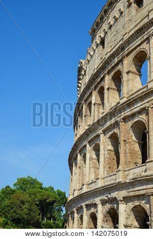 Flavian Amphitheatre or Colosseum in Rome, Italy
