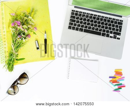 Summer Working Place At Home Or Office