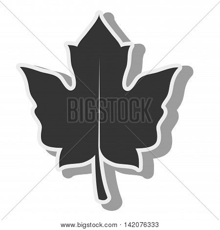 plant green leaf ecology leaves silhouette vector graphic isolated and flat illustration