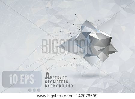 Low poly abstract geometry template background for design element